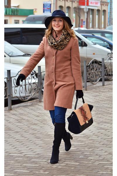 Accessorize hat - Elcherry boots - kira plastinina coat - Accessorize scarf
