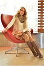 Elche-boots-aliexpress-jeans-h-m-blazer-accessorize-scarf-h-m-vest
