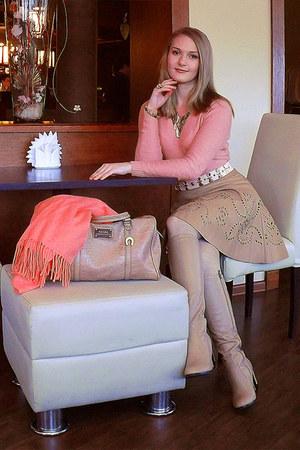 ARZOmania boots - Incity blazer - Mango bag - Ruche skirt - asos belt