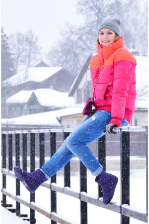 Adidas coat - Crocs boots - Promod jeans
