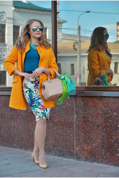 Zara coat - Mango bag - Mango jumper - Ostin skirt - Taobao pumps
