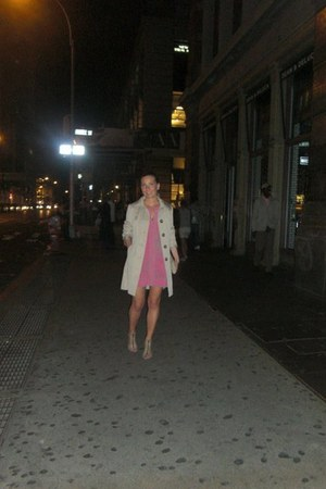 BCBG dress - Aldo Shoes shoes - trench coat Michael Kors jacket