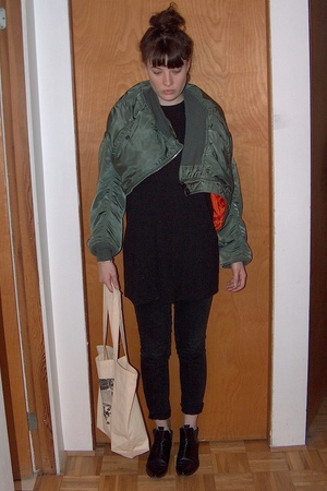 army surplus jacket -  t-shirt - Cheap Monday jeans - TUBES Italy shoes - Ebay p