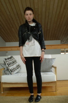 vintage jacket - vintage t-shirt - Cheap Monday jeans - vintage shoes