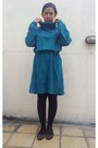 Secondhand-dress-suede-wonder-shoes-flats-store-stockings