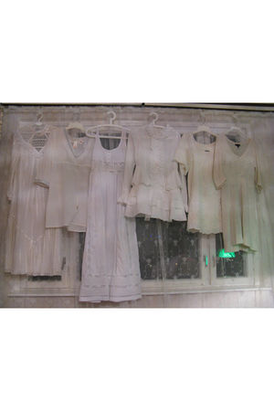 white vintage dress - white Accessorize dress - white Topshop dress - white Ebay