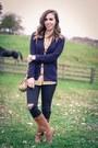 Black-distressed-madewell-jeans-mustard-stripes-jcrew-blouse