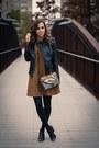 Mustard-swing-dress-h-m-dress-black-faux-leather-zara-jacket