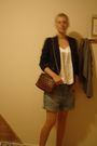 Black-second-hand-blazer-white-second-hand-blue-second-hand-shorts-brown-m