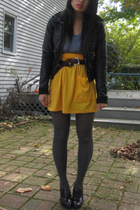 aa skirt - Target tights - H&M jacket - aa shirt - thrifted belt