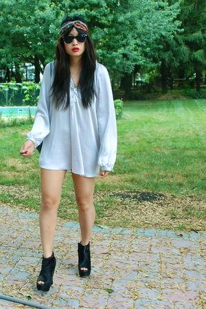 black Ashish x Topshop shoes - silver Zara shirt