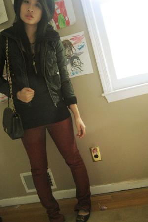 H&M jacket - JBrand jeans - tory burch shoes - Thrift Store Hong Kong Ladies Mar