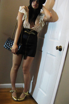 DIY skirt - top - vintage belt - calvin klein shoes