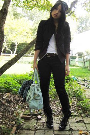Nine West shoes - JBrand jeans - vintage vest - French Connection blazer