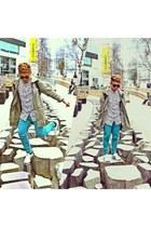 parka Topman coat - mexico 66 onistuka tiger shoes - teal Primark jeans