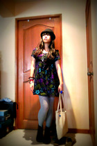 hat - somewhere form hong kong dress - Forever21 stockings - 2 value shop access