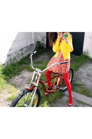 vintage dress - Zara shirt - Miu Miu shoes