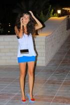 Topshop skirt - Zara shirt - melissa lady dragon shoes