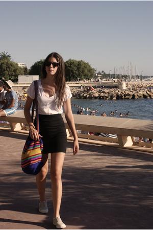 Zara t-shirt - H&M skirt - Bensimon shoes