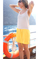 yellow Mango dress - dark brown Ralph Lauren sunglasses