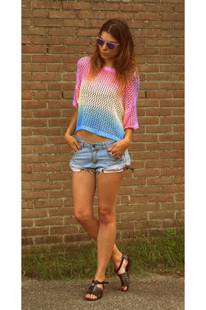H&M sweater - H&M shorts - Oakley sunglasses - asos sandals