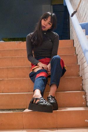 spotlight pants - Devilish accessories - Uniqlo top - UNIF loafers