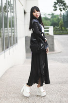 YRU shoes - Blackbook bag - Ruang Niskala necklace - Bershka top - Zara skirt