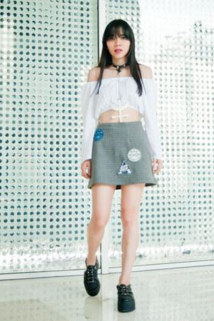 UNIF shoes - Something Boudouir skirt - Nassgorju top