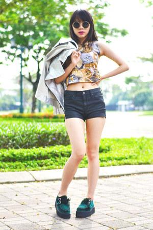 Cocraparis top - TUK shoes - H&M shorts - Forever 21 sunglasses