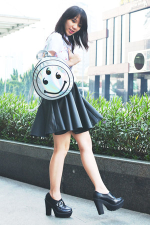 Forever 21 shoes - Withsuwithsu bag - STUPKID top - Egency skirt
