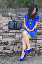 KD dress - Aldo shoes - Jimmy Choo purse