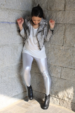 silver American Apparel leggings - black As known as Rue shoes