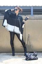 Zara gloves - Karmaloop leggings - balenciaga purse - Aldo shoes - Arbor