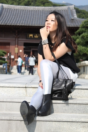 Philip Lim 31 jacket - Prada purse - Agatha accessories - American Apparel leggi