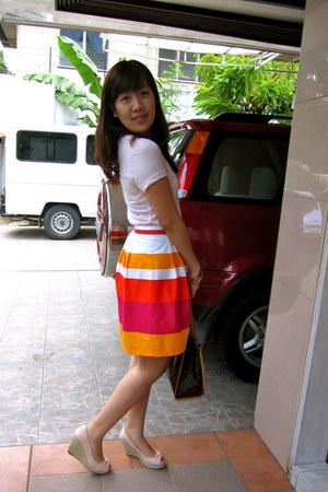 carrot orange Promod skirt