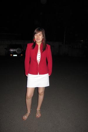 vintage blazer - Topshop top - Kamiseta skirt