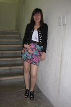jacket - Promod intimate - skirt - Glitterati belt - shoes