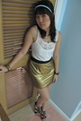 Gold-glitterati-skirt-black-aldo-shoes-white-topshop-top