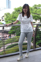 DIY t-shirt - Zara pants - SM shoes
