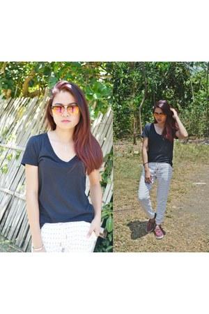 black Forever 21 shirt - white Folded & Hung pants