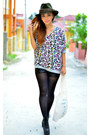 Black-next-tights-jeffrey-campbell-boots-olive-green-forever-21-hat