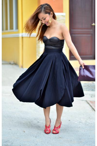 petal A T skirt - Accesorize bag - red stella luna heels - Payless earrings