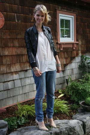 H&M jacket - H&M blouse - jeans - BCBGirls shoes