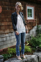 H&M jacket - H&M blouse - jeans - BCBGirls shoes