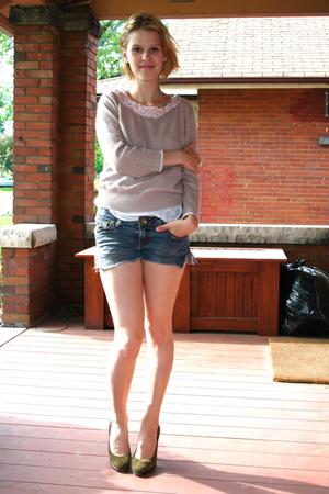 sweater - shorts - Michael Kors shoes