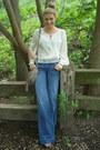 Flare-genetic-denim-jeans-cross-body-free-people-bag-nude-platforms-zigi-ny-