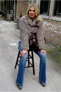 Heather-gray-chunky-pour-la-victoire-boots-blue-flare-paige-denim-jeans