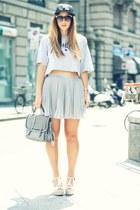 black nike hat - heather gray H&M skirt