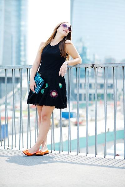 black desigual dress