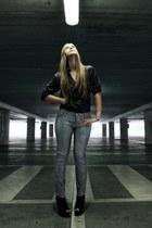 dark gray ferre blouse - dark gray LeRock jeans
